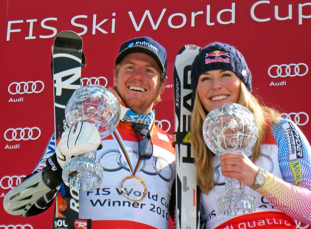 World Cup Champs Ted Ligety and Lindsey Vonn